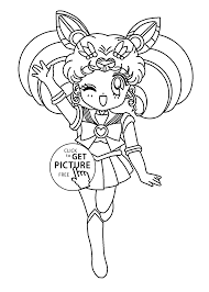 mini sailor moon anime coloring pages for kids printable free