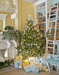 Christmas Tree Decorations Blue And White by Blue And White Holiday Decorating Christmas House Tour