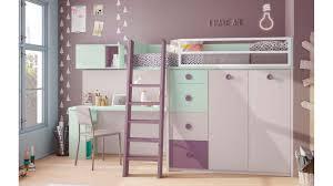 lit mezzanine enfant avec bureau lit mezzanine enfant compact coloré avec bureau glicerio so nuit