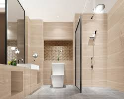 nicely modern elegant bathroom design with nice standing open