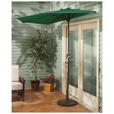 Floral Print Patio Umbrellas by Amazon Com Castlecreek 8 U0027 Half Round Patio Umbrella Khaki