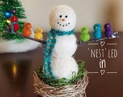 felt snowman etsy