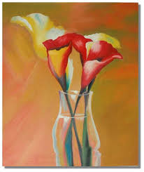 Acrylic Flower Vases All Products Gallery Oil Painting Shop Selling Hand Craft