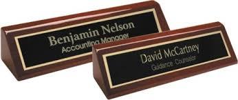 Wooden Desk Name Plates Desk Name Plates Engraved Name Plates
