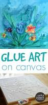 glue art on canvas with watercolors glue art watercolor and