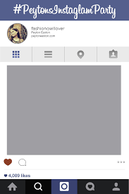instagram layout vector illustrator free instagram frame party template in photoshop and powerpoint
