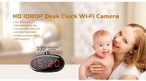 cachee bureau horloge de bureau éra cachée hd pilotable à 330 ip wifi
