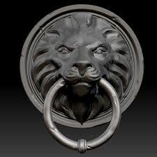 lion door knocker 3d lion door knocker cgtrader