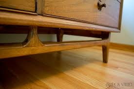 how to refinish a desk refinishing an awesome mid century modern dresser iron and tweed