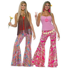 Halloween 70s Costumes 70s Costumes Womens Bell Bottom Pants Halloween Fancy Dress