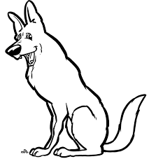 german shepherd coloring pages free 37 free dog coloring pages ready to color dogistyle