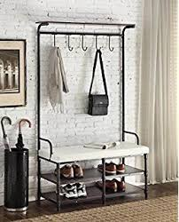 amazon com songmics heavy duty 18 hooks coat rack with 3 tier