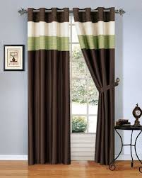Green And Beige Curtains Inspiration Brown And Green Curtains Curtains Ideas