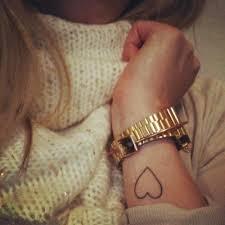 tattoos cute wrist heart tattoos