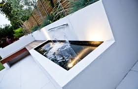 modern water features furniture ideas modern water feature in the white patio section of