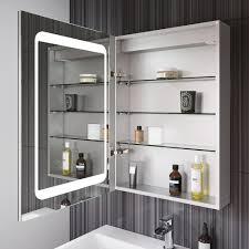 led illuminated mirror cabinet bathroom shaver socket u0026 motion