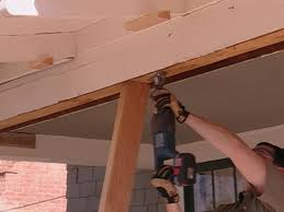 How To Fix Swollen Laminate Flooring How To Repair A Sagging Support Beam How Tos Diy