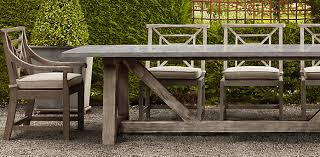 concrete and wood outdoor table mediterranean dining room with frontgate grenadine rectangular