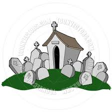 halloween graveyard clipart cartoon cemetery with tomb by clairev toon vectors eps 42053