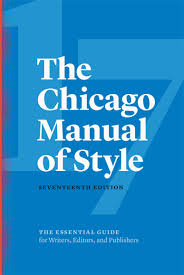 journal of management style guide the chicago manual of style 17th edition the university of