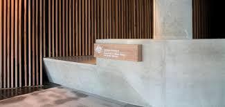 Concrete Reception Desk Concrete By Design Nishi Reception Desk This Concrete Desk Is