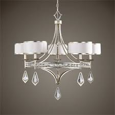Uttermost Bathroom Lighting Uttermost Tamworth 5 Light Silver Champagne Chandelier Classic