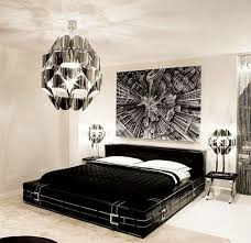 modern black white bedroom custom black and white interior design