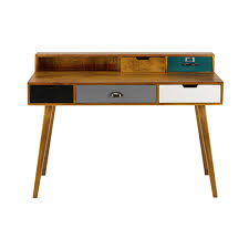 bureau maison du monde 5 drawer solid mango wood desk maisons du monde