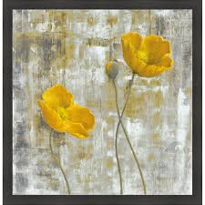 yellow flowers carol black yellow flowers i framed artwork free shipping