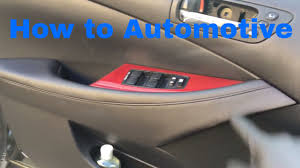 lexus rx300 master window switch how to remove and install the front door panel on a 2009 2012
