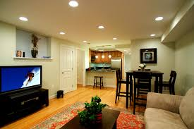 interior exciting modern basement interior decoration using white