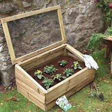 large cold frame 83cm wooden garden planters with lid grow box
