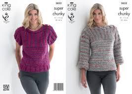 s sweater patterns king cole chunky knitting pattern womens