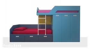 Bunk Beds With Wardrobe Funky Bunk Cool Sophisticated Awesome Bunk Bed