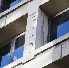 file damaged concrete on east facade j edgar hoover building