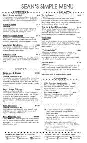 menu parish cafe and bar