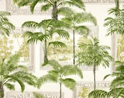 Palm Tree Bathroom Accessories by Tree Shower Curtain Etsy