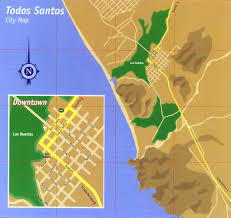 Map Of Cabo Mexico by Todos Santos Tourist Map Todos Santos Mexico U2022 Mappery