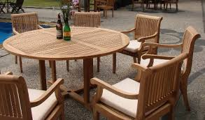 round wood patio table the ultimate guide to outdoor teak furniture beachfront decor