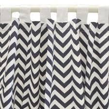 Chevron Navy Curtains Pair Of 2 Panels 50 X 84 Navy Blue And White Designer Custom