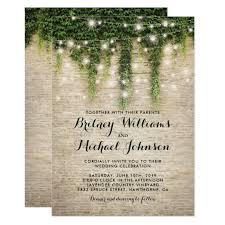 vineyard wedding invitations rustic chateau church string lights wedding card zazzle