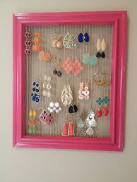 how to make an earring holder for studs earring hanger ideas design decoration