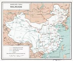 Detailed Map Of China by Large Detailed Railroads Map Of Mainland China 1960 China