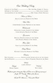 Wedding Program Examples Wedding Program Samples Hasso