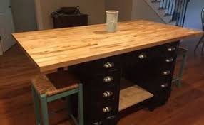 i turned an antique desk into an island i think you will be
