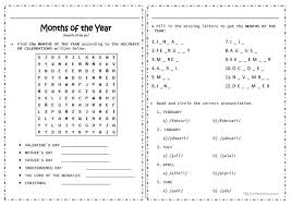 number names worksheets teaching months of the year worksheets