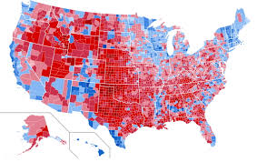 Presidential Election Map by 2016 U S Presidential Election Map By County 1 280 X 812