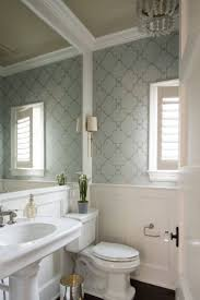 Blue And White Bathroom Ideas by 278 Best Wallpapered Bathroom Images On Pinterest Bathroom Ideas