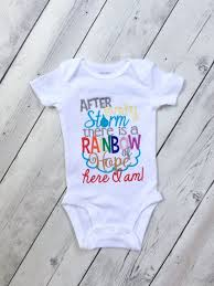 embroidered rainbow baby onesie rainbow baby after every