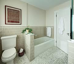 half bath tile bathroom traditional with half wall resistant